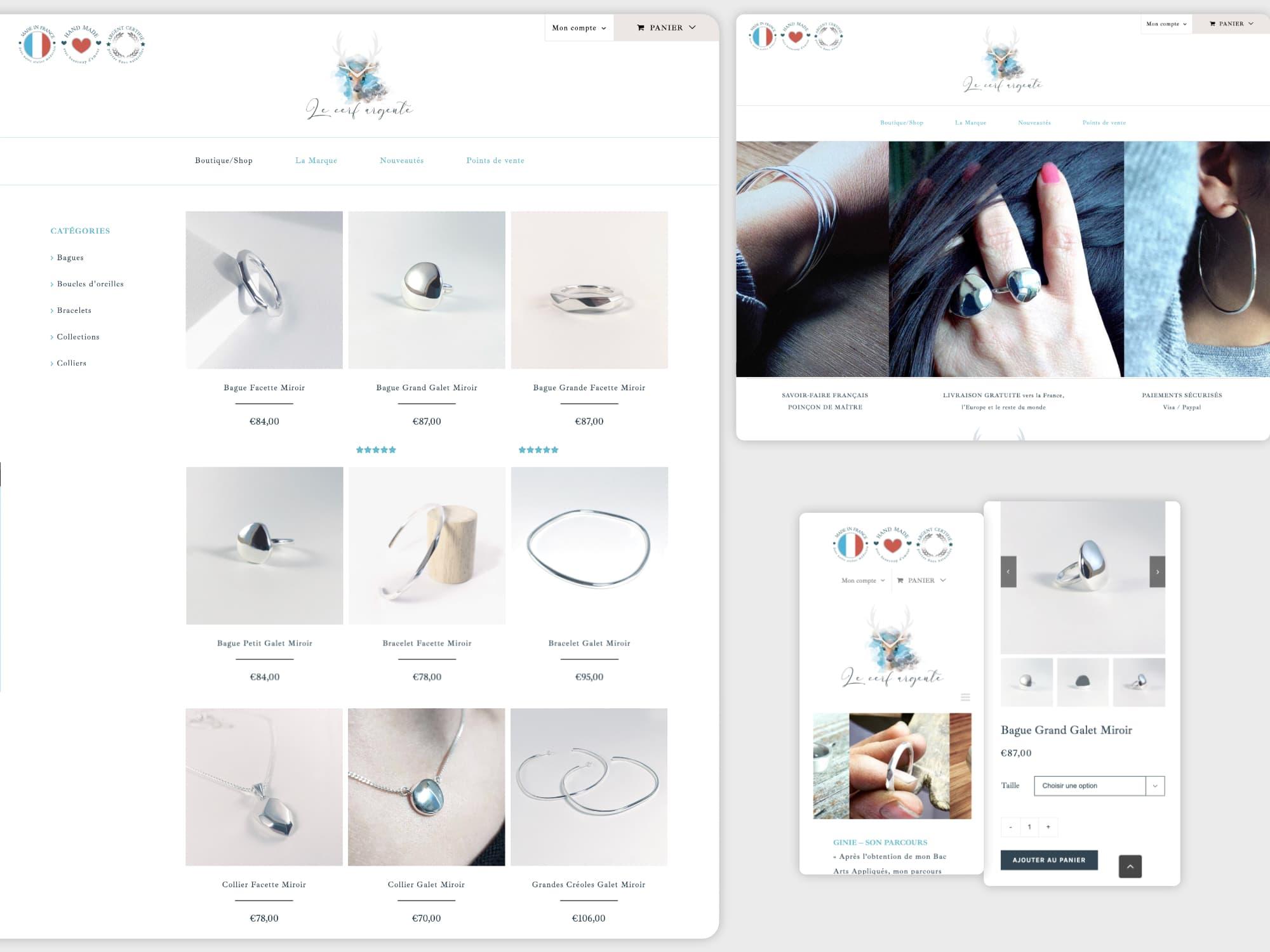 Création du site e-commerce Le Cerf Argenté